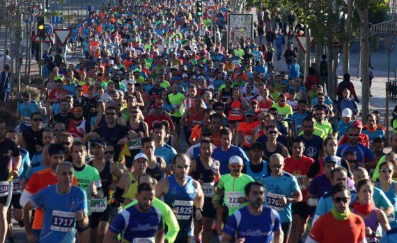 Corredores en el Maratón de Alcalá