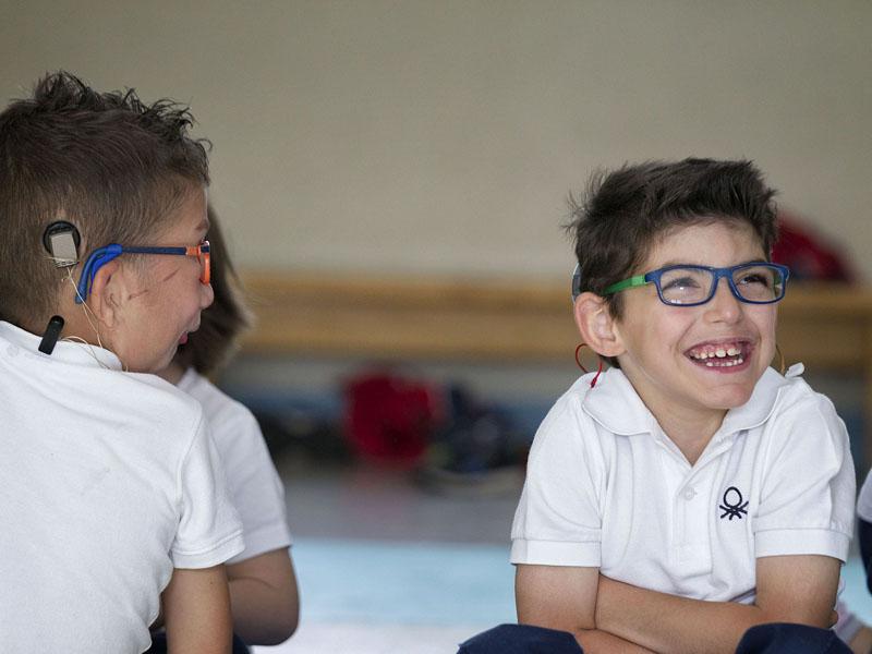 Alumnos del Ponce de León sonriendo. @mjberrocal