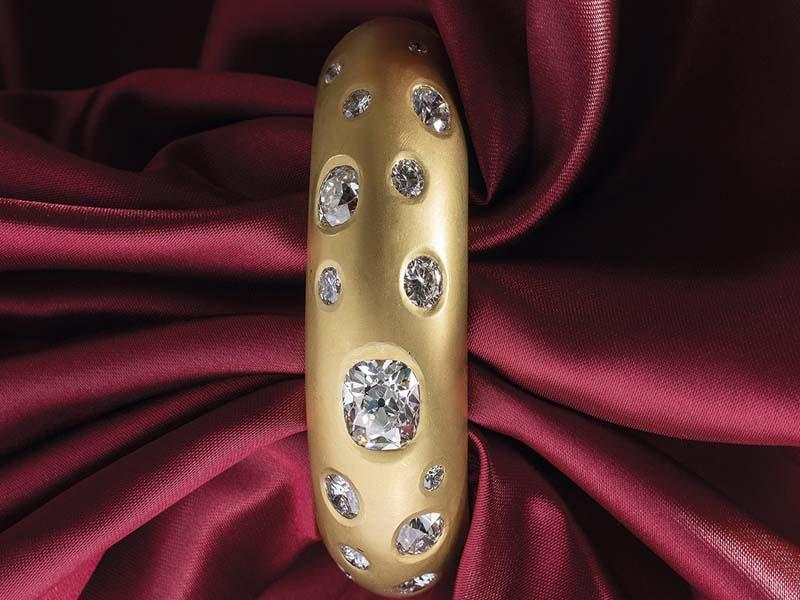 Brazalete de oro y diamantes. Subasta Especial 2018